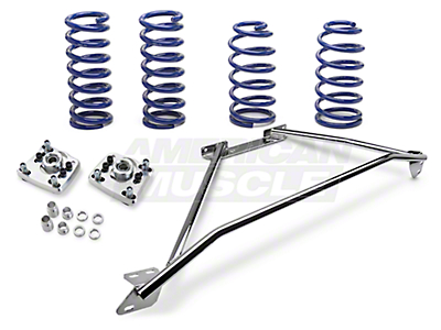 SR Performance Strut Tower Brace & Lowering Spring Kit - Chrome (94-04 GT)