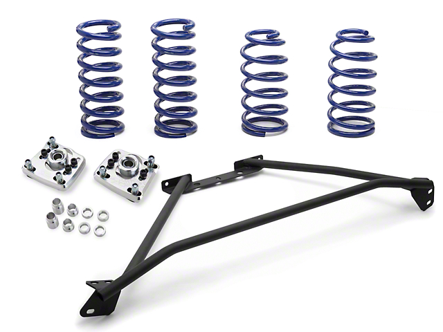 SR Performance Strut Tower Brace & Lowering Spring Kit - Black (94-04 GT)