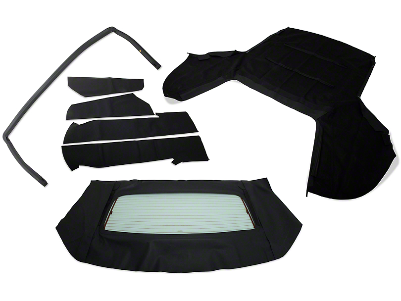 Convertible Top Resto Kit - Black (85-90 All)