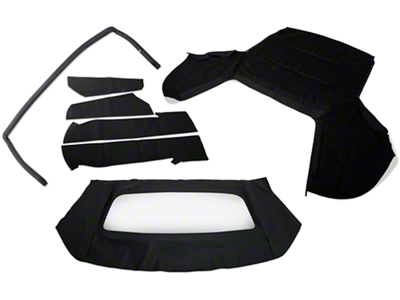 Convertible Top Resto Kit - Black (91-93 All)