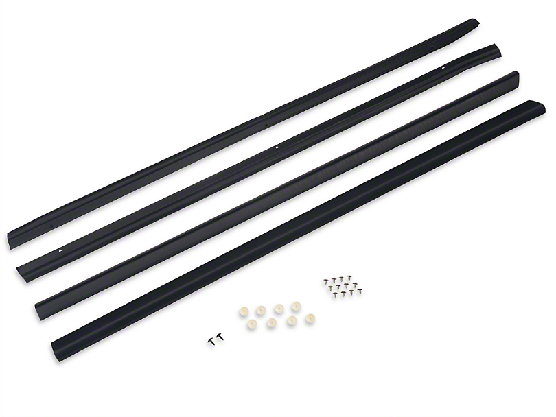 Exterior Door to Window Molding And Seal Kit - Coupe/Hatchback (87-93 All)