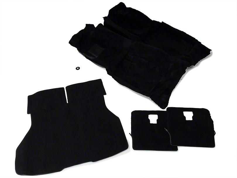 Floor and Hatch Carpet Kit - Black (87-93 Hatchback)