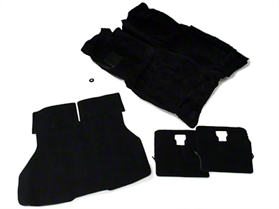 Floor and Hatch Carpet Kit - Black (87-93 Hatchback)