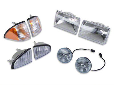 Headlight and Fog Light Kit (87-93 GT)