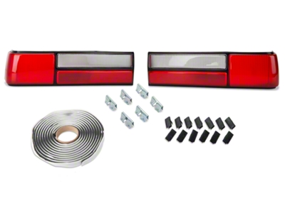 Replacement LX Style Tail Light Lens - Pair (87-93 All)