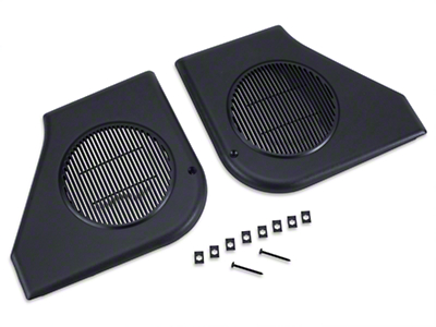 Door Speaker Grille Kit - Black (87-93 All)