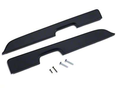 Black Door Armrest Pad Kit - Power Windows (87-93 All)