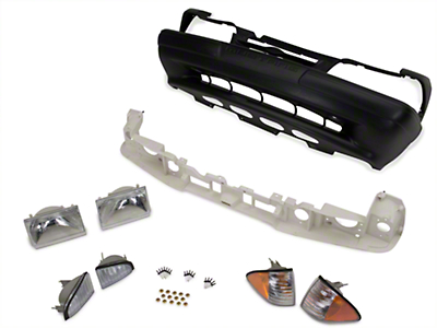 Front Bumper Cover and Headlight Kit (87-93 LX)