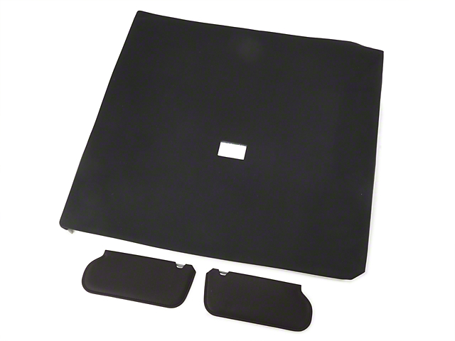 OPR Cloth Sunvisor And Headliner Kit - Black (85-91 Hatchback)