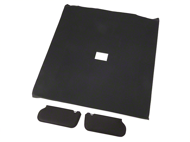 OPR Cloth Sunvisor And Headliner Kit - Black (92-93 Coupe)