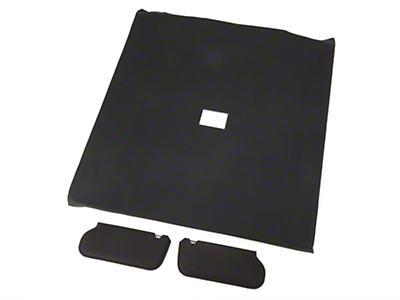 Cloth Sunvisor And Headliner Kit - Black (92-93 Coupe)