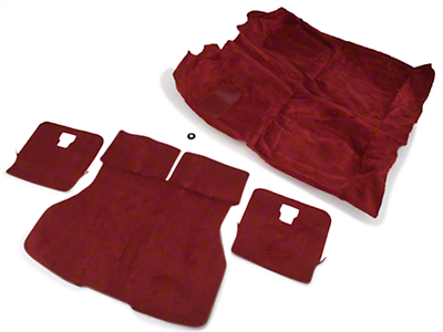 Floor and Hatch Carpet Kit - Red (87-93 Hatchback)
