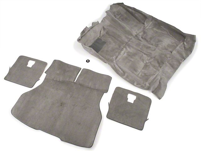 Floor and Hatch Carpet Kit - Titanium Gray (90-92 Hatchback)