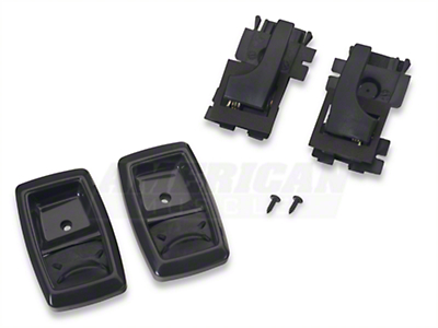 Interior Door Handle and Bezel Kit - Black (79-93 All)