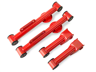 SR Performance Complete Rear Control Arm Kit - Red (79-04 GT, V6, Mach 1)