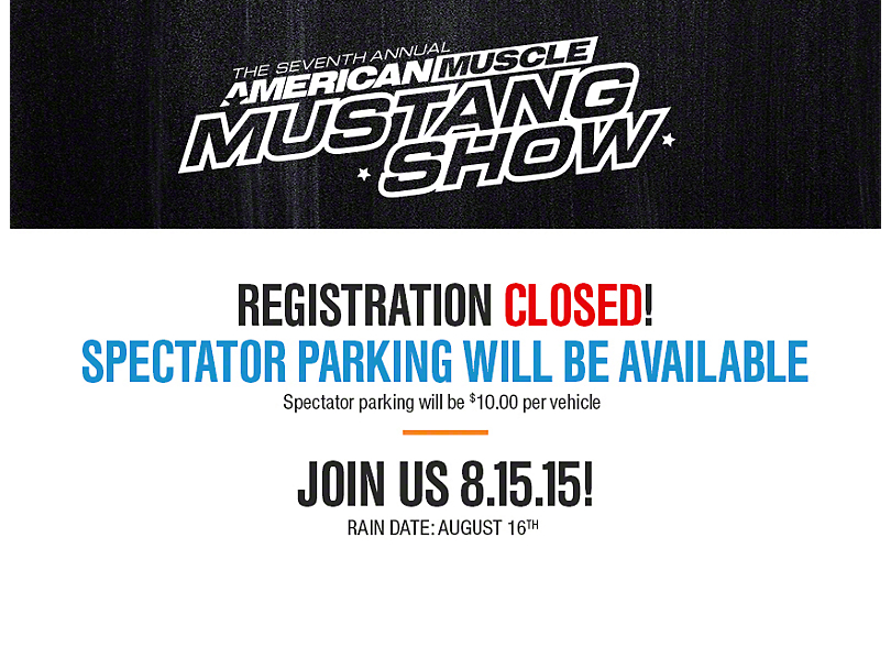 7th Annual American Muscle Mustang Show, August 15, 2015 - Official ...