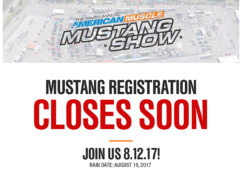 9th Annual AmericanMuscle Mustang Show - Early Bird Special Pricing