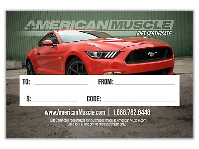 $75 American Muscle Gift Certificate