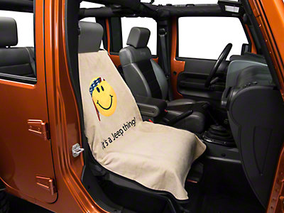 Seat Armour Seat Cover - Jeep Smiley Face Tan (87-15 Wrangler YJ, TJ
