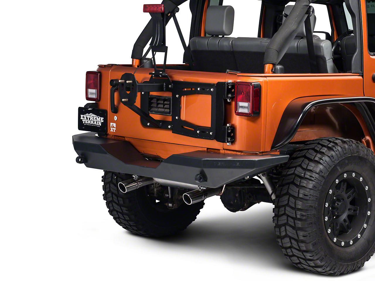 RedRock 4x4 Rear Hinged Tire Carrier w/ Tire Mount (07-16 Wrangler JK)