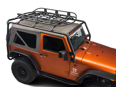 Barricade Roof Rack Basket - Textured Black (87-16 Wrangler YJ, TJ & JK)