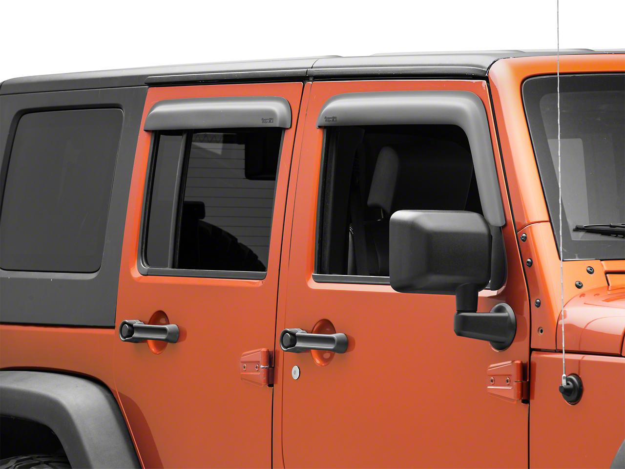 Rugged Ridge Window Visors Matte Black (07-17 Wrangler JK 4 Door)