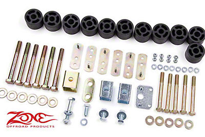 Zone Offroad 1.25 in. Body Lift Kit w/o Shocks (97-06 Wrangler TJ)
