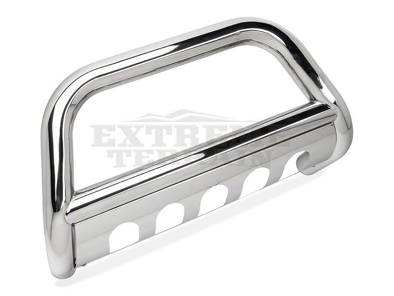 barricade 3in bull bar w skid plate stainless steel 07 09 wrangler jk ebay. Black Bedroom Furniture Sets. Home Design Ideas