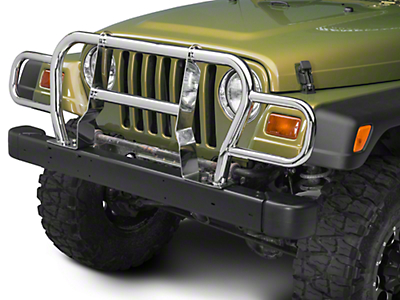 RedRock 4x4 Front Grille Guard - Stainless Steel (87-06 Wrangler YJ & TJ)