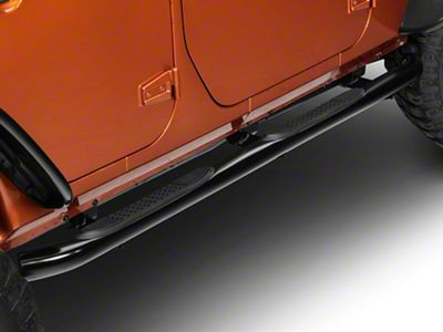RedRock 4x4 3 in. Curved Round Side Step - Gloss Black