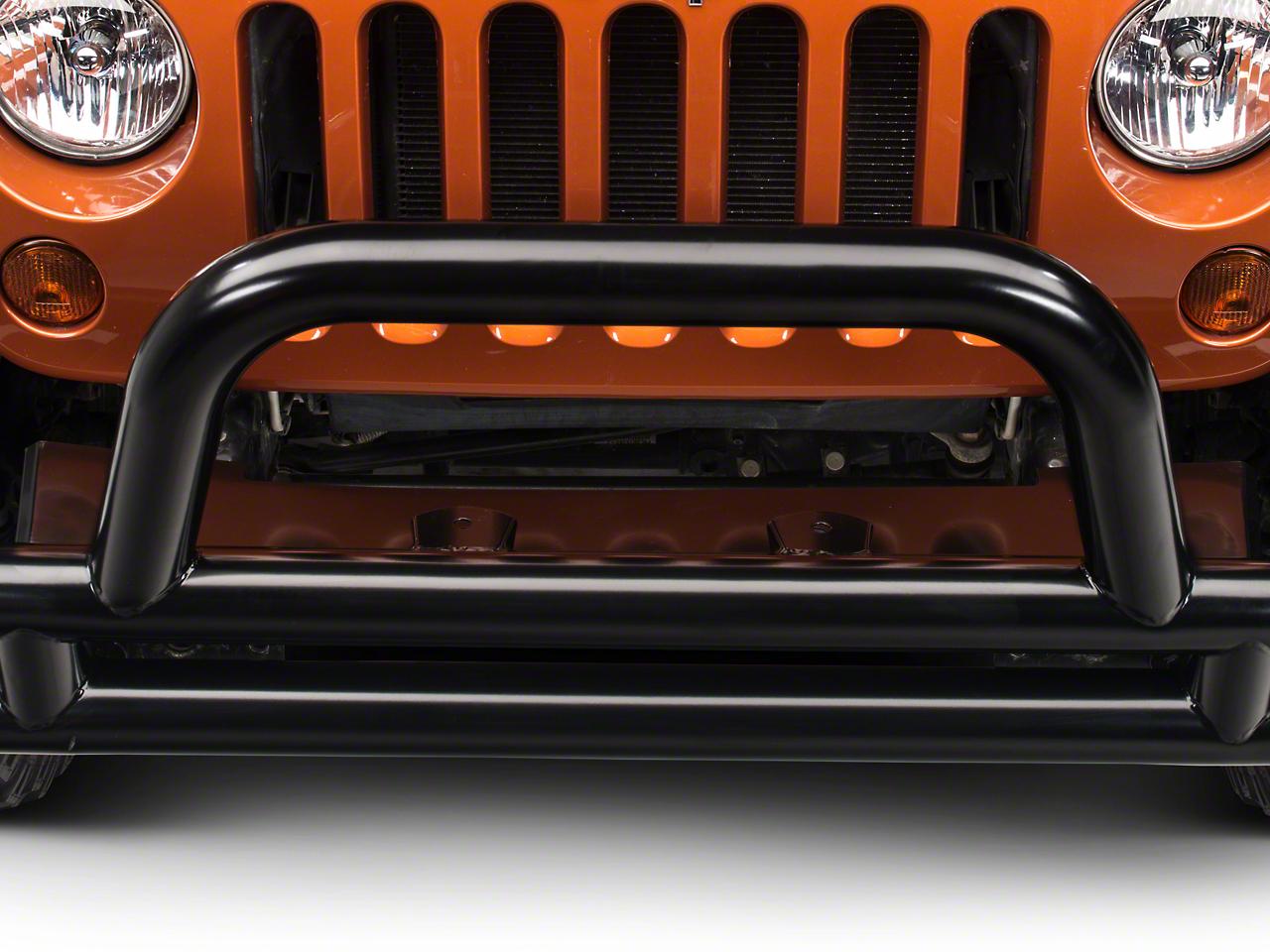 RedRock 4x4 Front Fill Plate - Gloss Black (07-17 Wrangler JK)