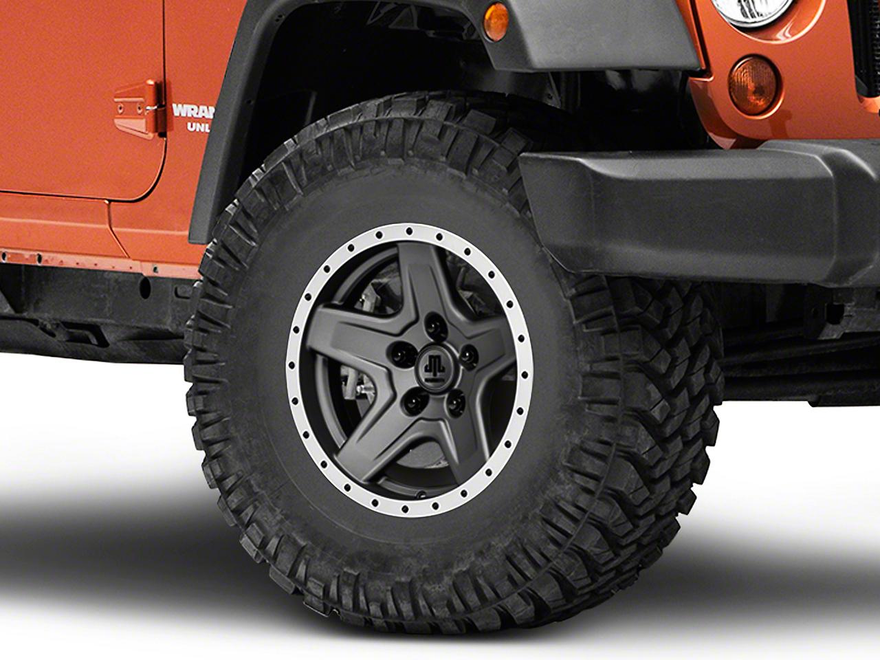 Mammoth Boulder Beadlock Style Charcoal Wheel - 16x8 (07-16 Wrangler JK)