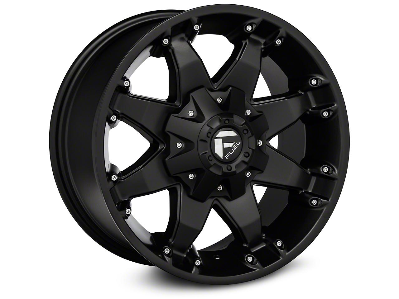 Fuel Wheels Octane Matte Black - 17x8.5 (87-17 Wrangler YJ, TJ & JK)