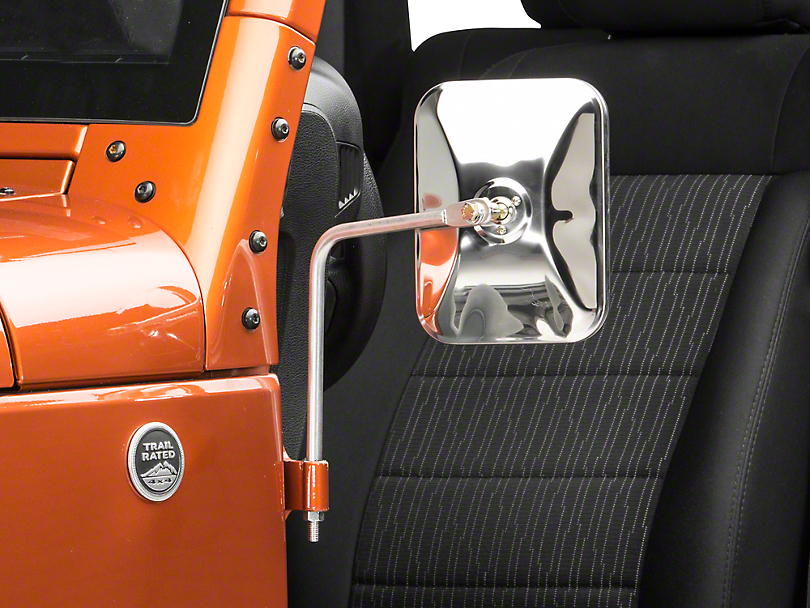 Barricade Wrangler Adventure Mirrors Polished Stainless