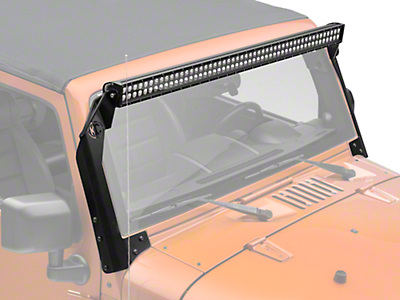 KC Hilites LED Light Bar and Over Windshield Bracket Kit 50in. (07-17 Wrangler JK)