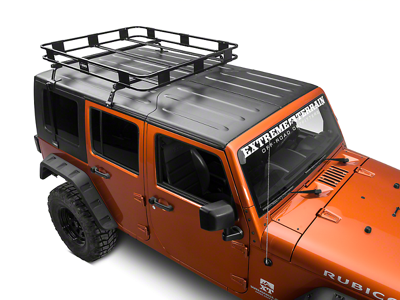 Surco Safari Removable Hard Top Rack w/ Basket (07-16 Wrangler JK)