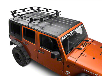 Surco Safari Removable Hard Top Rack w/Basket (07-15 Wrangler JK)