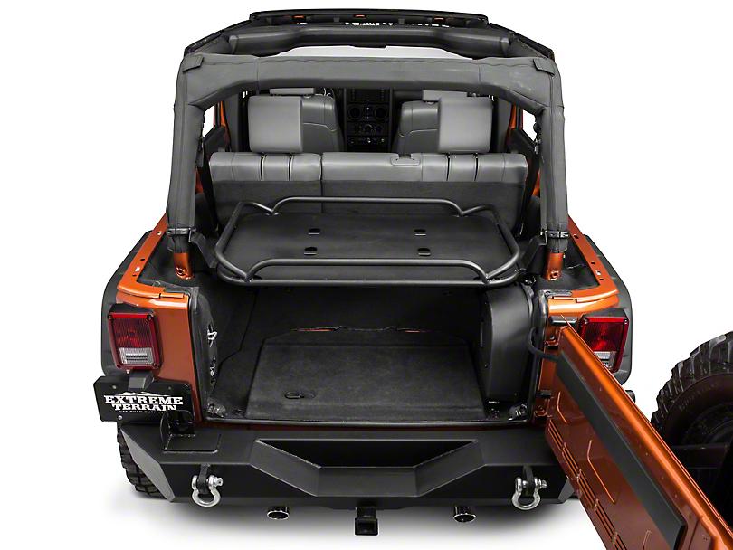 Rampage Wrangler Interior Mount Rear Sport Rack Fold Up