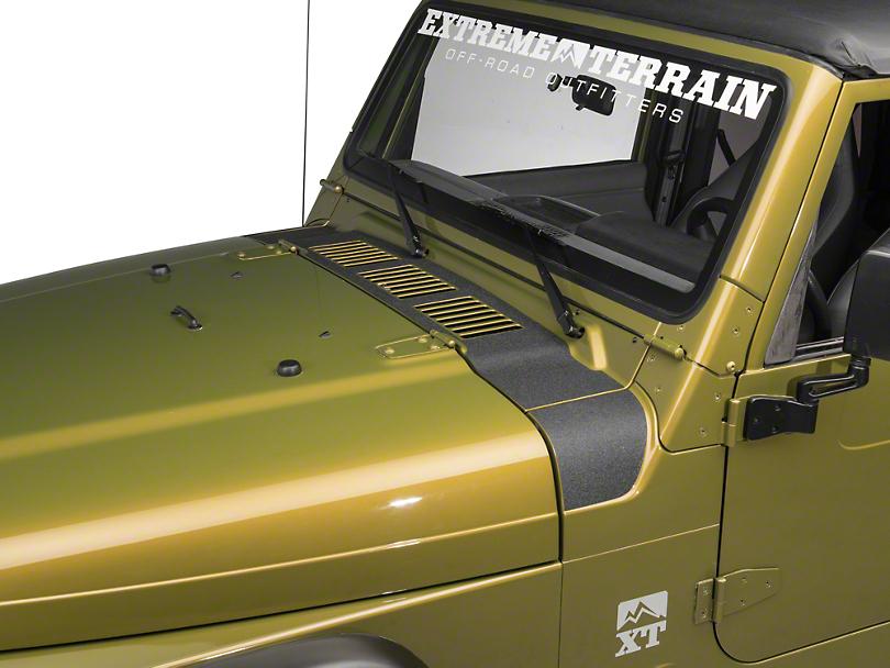 Redrock 4x4 Wrangler Cowl Body Shield Decal Black