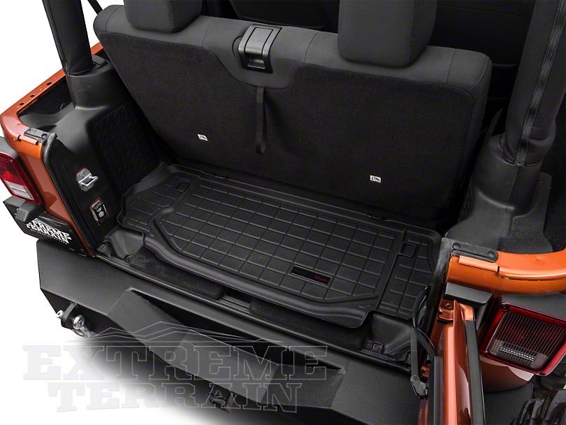 weathertech wrangler black fitted rear cargo area floor