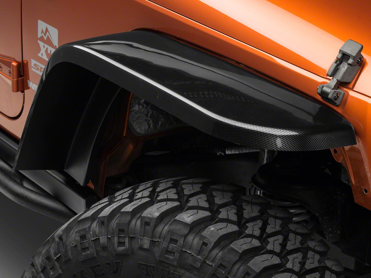 MCE Gen-III Carbon Fiber Flexible Flat Fenders (07-16 Wrangler JK)