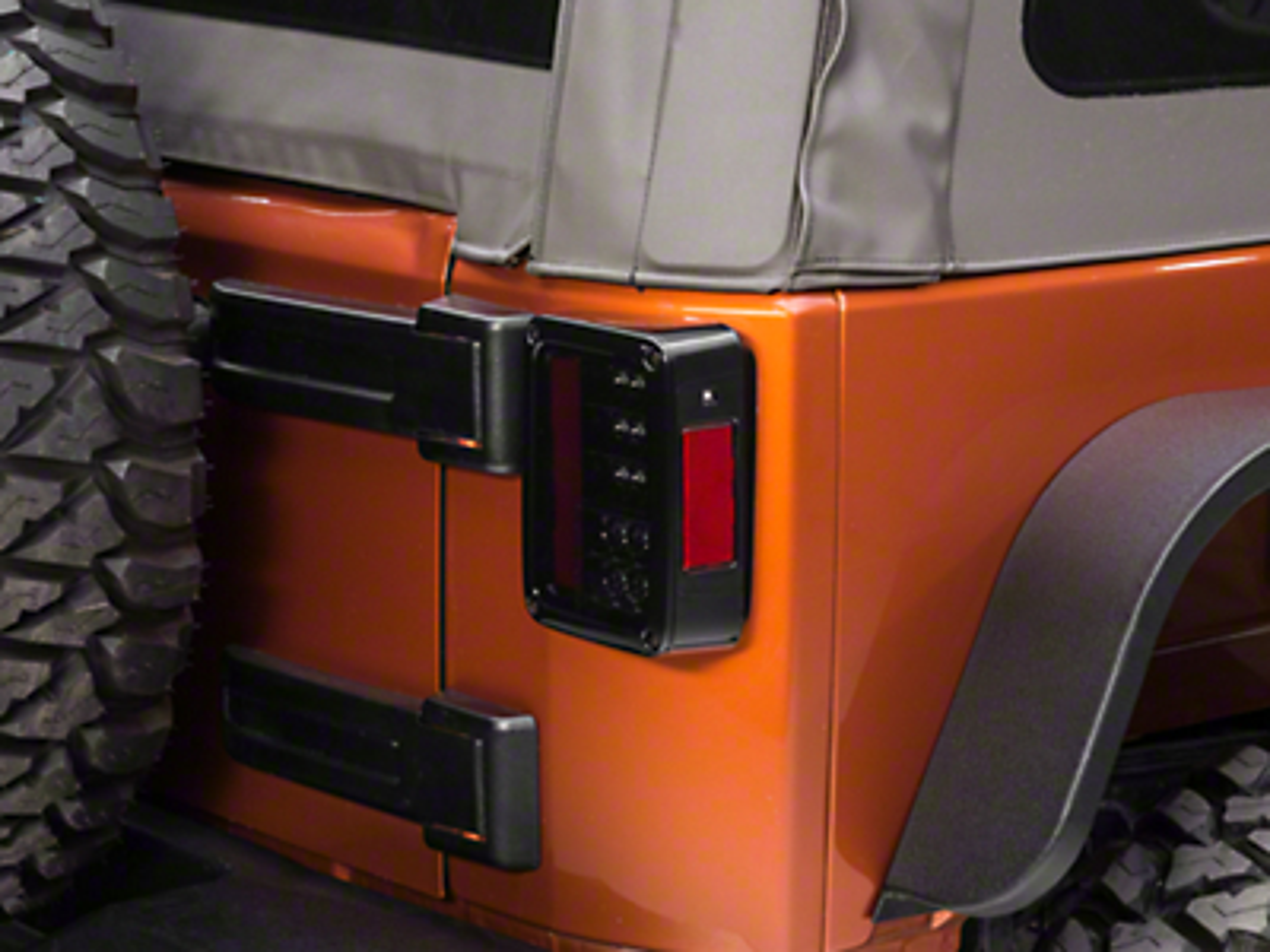 Recon Smoked LED Tail Lights (07-17 Wrangler JK)