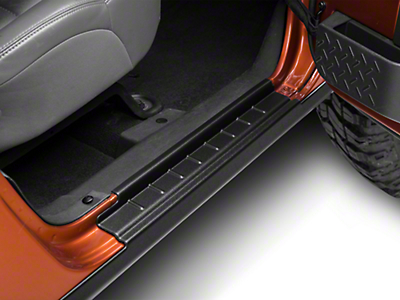 Bushwacker Textured Rocker Panel & Sill Plate - Pair (07-17 Wrangler JK 4 Door)