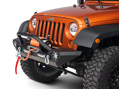 Barricade Trail Force HD Front Bumper w/ LED Lights (07-17 Wrangler JK)