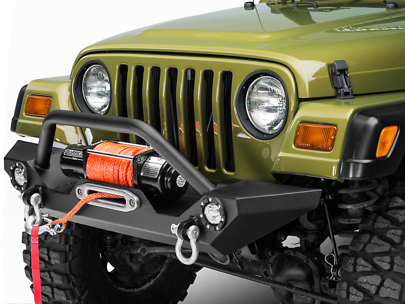 trail force hd front bumper w led lights 87 06 wrangler yj tj. Cars Review. Best American Auto & Cars Review