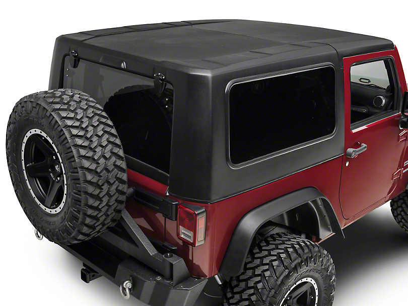 dv8 off road wrangler 2 piece hard top ht07sb22 07 17 wrangler jk 2 door free shipping. Black Bedroom Furniture Sets. Home Design Ideas