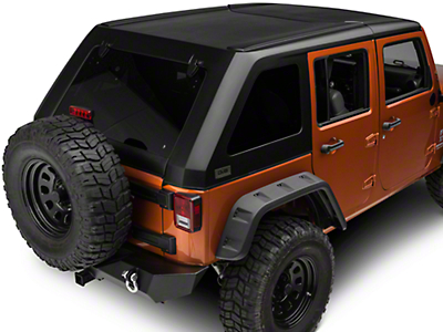 DV8 Off-Road Fastback Hard Top 2 Piece (07-17 Wrangler JK 4 Door)