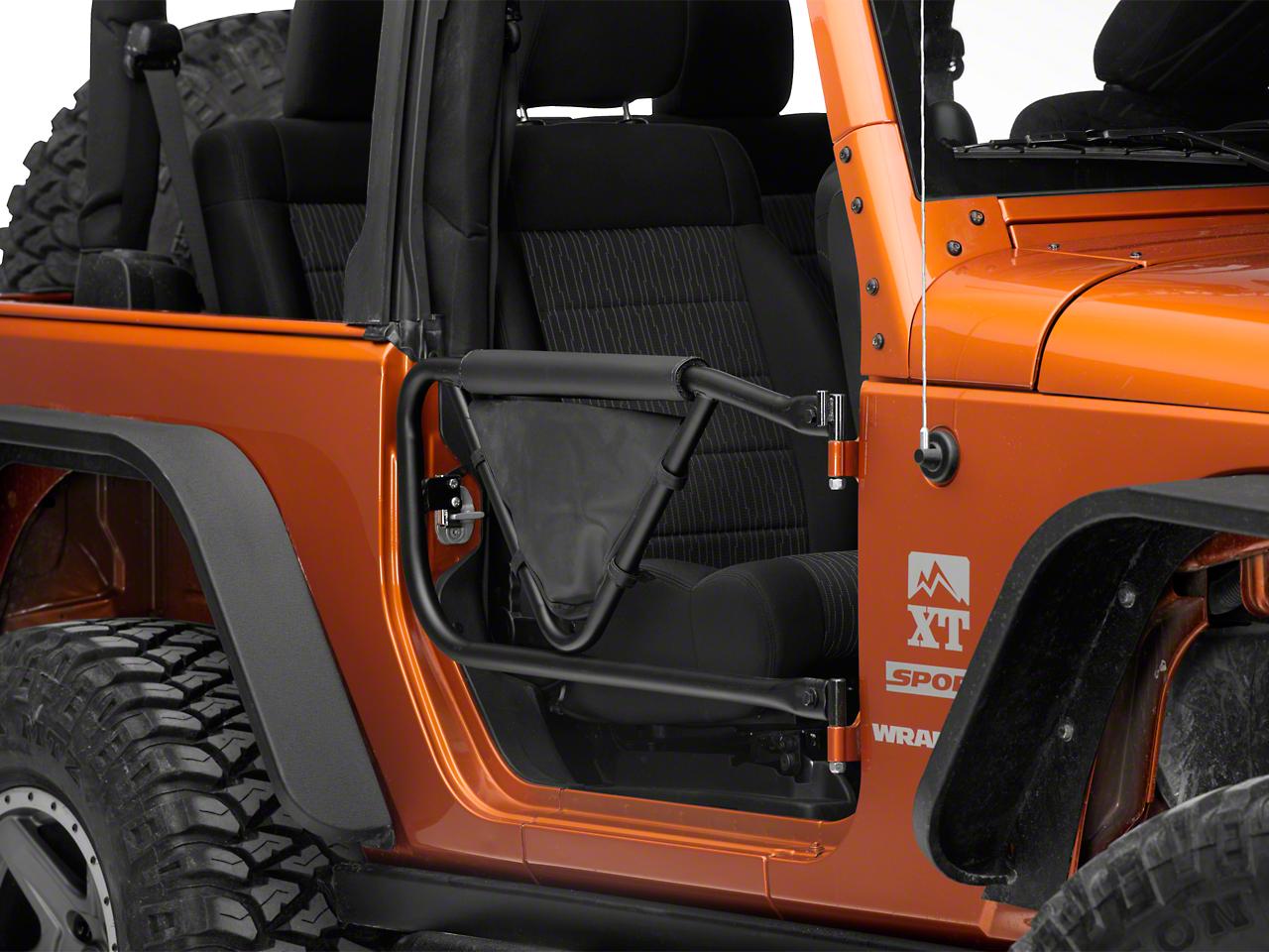 Olympic 4x4 Safari V Door with Arm Pad and Saddle Bag (07-16 Wrangler JK)