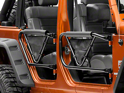 Olympic 4x4 Safari V Door with Arm Pad and Saddle Bag (07-17 Wrangler JK 4-Door)
