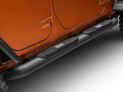 Aries Automotive Big Step 4 in. Round Side Bars (07-17 Wrangler JK 4-Door)
